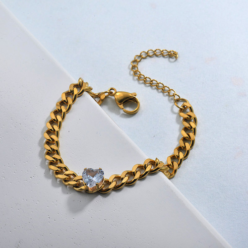 Stainless Steel Heart Bracelets for Women
