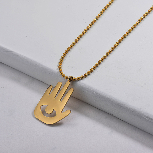 Wholesale Stainless Steel Statement Hands Pendant Necklace