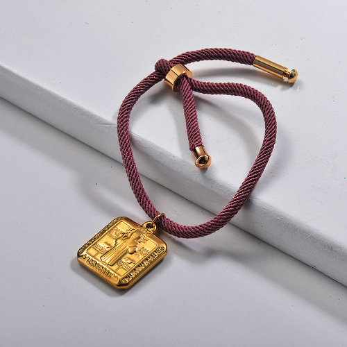 Bijoux religieux de mode Bracelet de chaîne de pièce rétro plaqué or