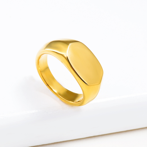 Wholesale Stainless Steel Fashion Gold Plated Wedding Ring