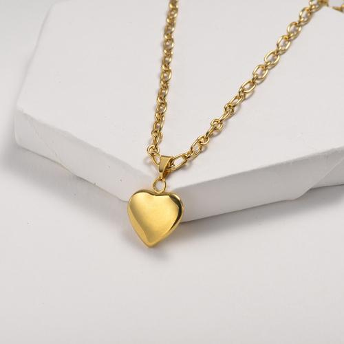 gold chain design fashion Heart pendant