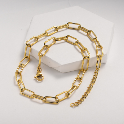 Collar de oro rectangular de moda
