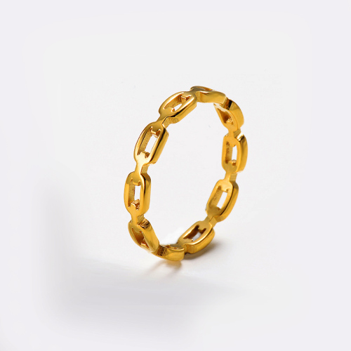 Wholesale Stainless Steel Famous Brand Gold Plated Simple Rings For Her