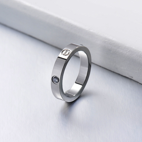 Wholesale Fashion Stainless Steel Silver  Plated Rings For Her