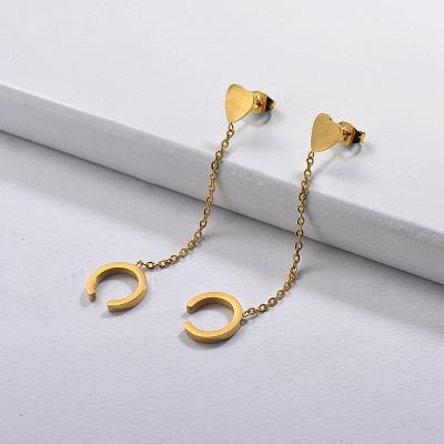 Aretes de cadena de acero inoxidable-SSEGG143-29249