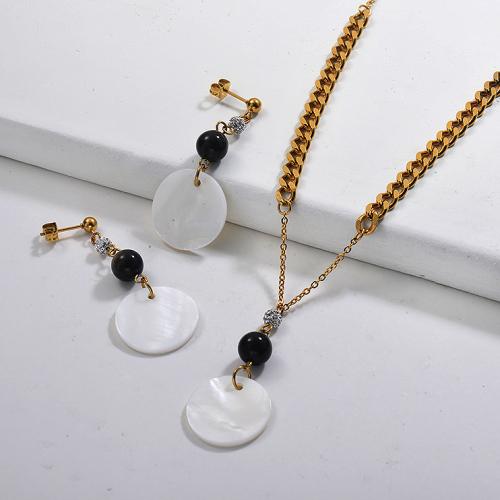 Conjuntos de collar de concha de acero inoxidable -SSCSG142-29608