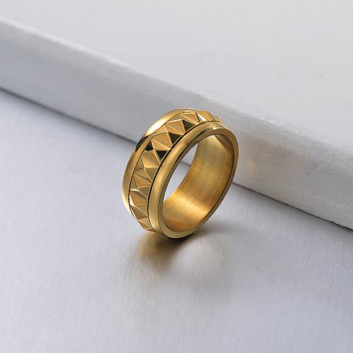 Anillo chapado en oro de nuevo diseño