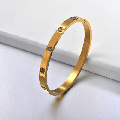 Pulseras de brazalete de amor de alta calidad de acero inoxidable