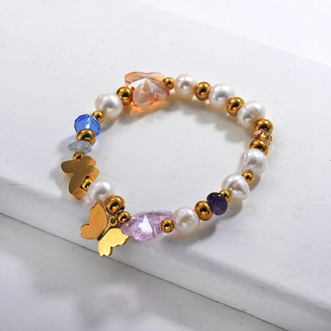 Fresh Water Pearl Beaded Bracelets -SSBTG142-29643
