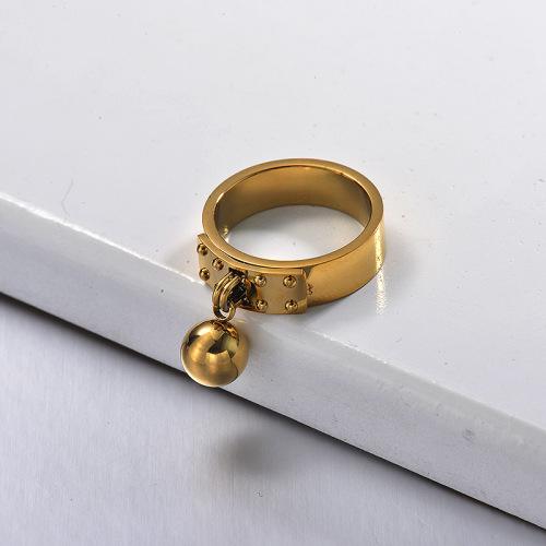 Bagues minimalistes plaquées or pour fille