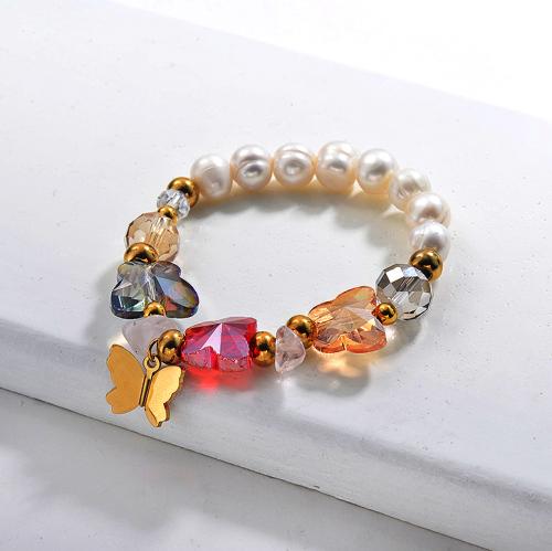 Fresh Water Pearl Beaded Bracelets -SSBTG142-29639