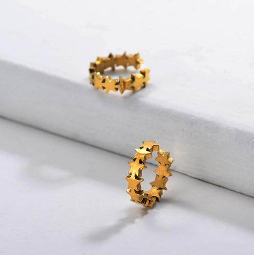 Boucles d'oreilles manchette en acier inoxydable -SSEGG143-29654