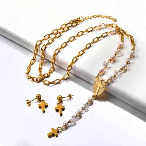 Fresh Water Pearl Rosario Necklace set