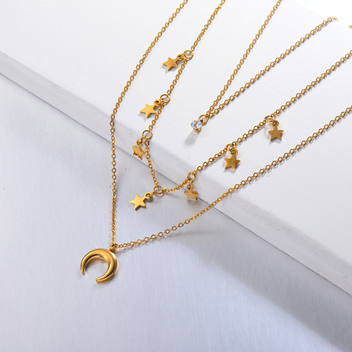 Star Multi Layered Necklace