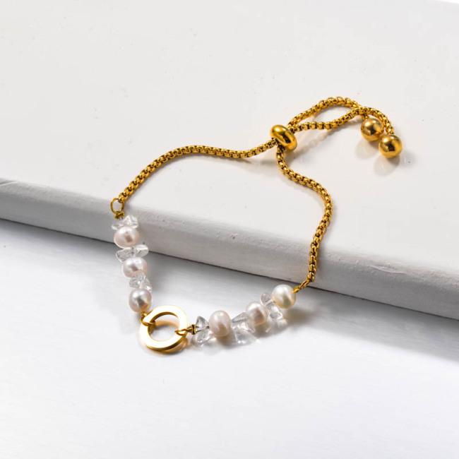 Fresh Water Pearl Stainless Steel Bracelets