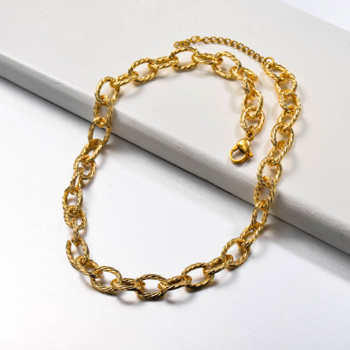 Stainless Steel Chain Link Necklace
