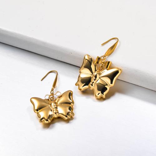 Stainless Steel Drop Butterflu Earrings
