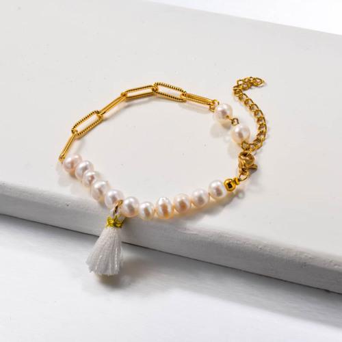 Fresh Water Pearl Tassel Bracelets