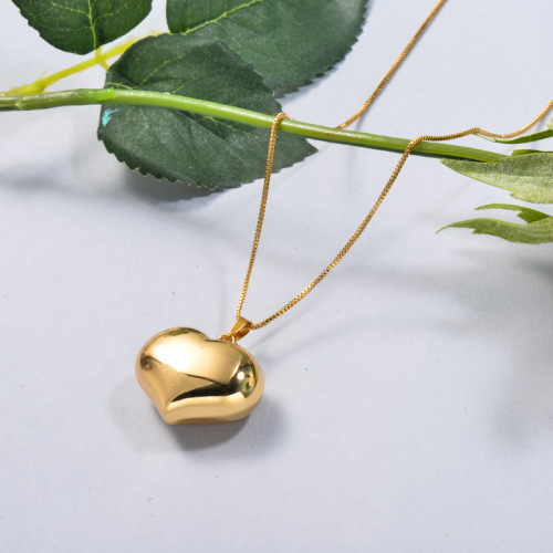 Stainless Steel Heart Drop Necklace
