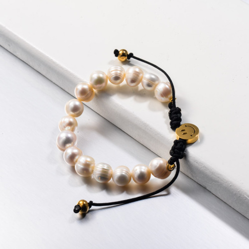 Pulseras Smile con cuentas de perlas de agua dulce