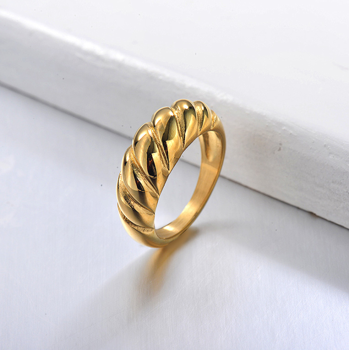18K Gold Plated Minimalist Rings for Girls