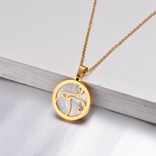 Collar Zodiaco Chapado En Oro De 18 Quilates Para Niña -SSNEG142-32521