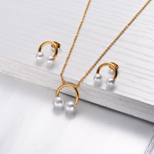 18k Gold Plated HeadSet Necklace Earrings Sets -SSCSG143-32466