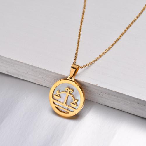 Collar Zodiaco Chapado En Oro De 18 Quilates Para Niña -SSNEG142-32527