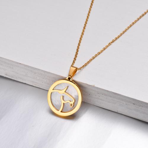 Collar Zodiaco Chapado En Oro De 18 Quilates Para Niña -SSNEG142-32518