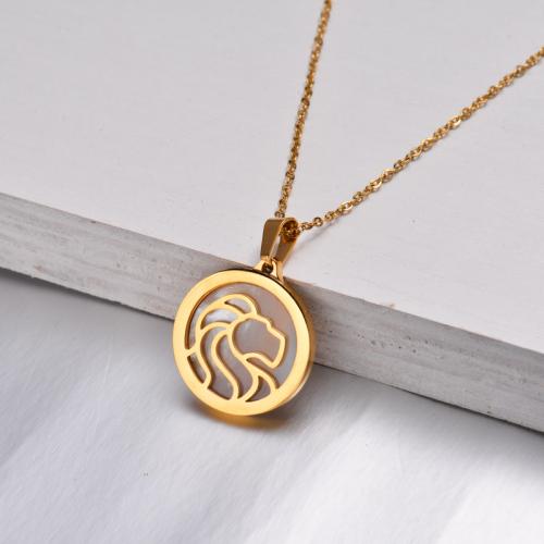 Collar Zodiaco Chapado En Oro De 18 Quilates Para Niña -SSNEG142-32523