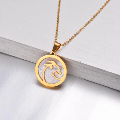 Collar Zodiaco Chapado En Oro De 18 Quilates Para Niña -SSNEG142-32529