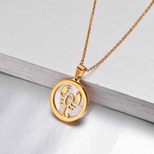 Collar Zodiaco Chapado En Oro De 18 Quilates Para Niña -SSNEG142-32528