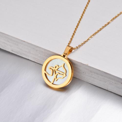 Collar Zodiaco Chapado En Oro De 18 Quilates Para Niña -SSNEG142-32524