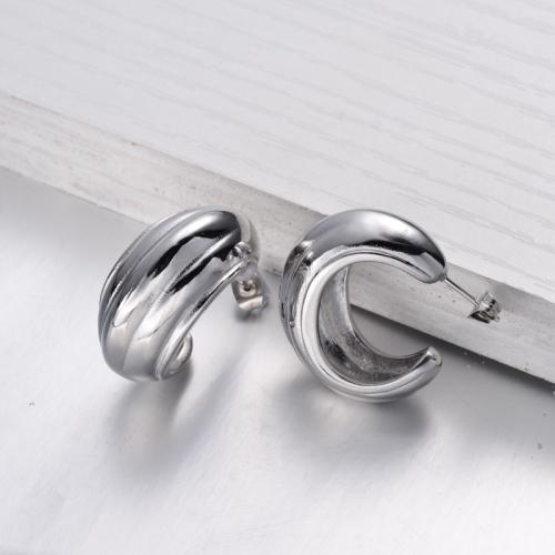 Stainless Steel Simple Minimalist style Hoop Earrings -SSEGG143-32484