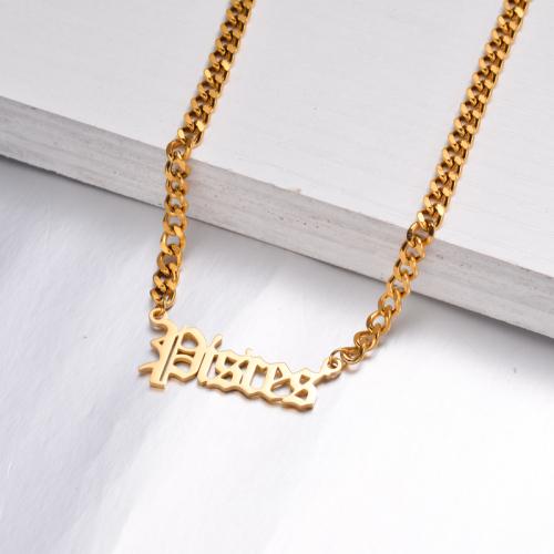 Collar Zodiaco Chapado En Oro De 18 Quilates Para Niña -SSNEG142-32516