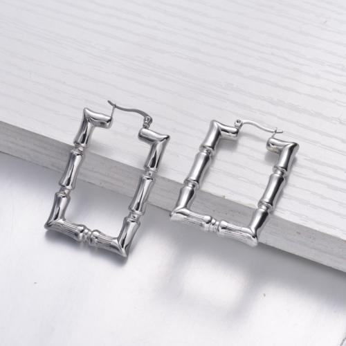 Boucles d'oreilles en acier inoxydable de style minimaliste simple - SSEGG143-32487