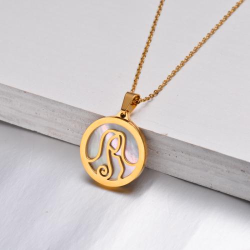 Collar Zodiaco Chapado En Oro De 18 Quilates Para Niña -SSNEG142-32519