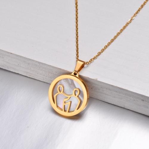 Collar Zodiaco Chapado En Oro De 18 Quilates Para Niña -SSNEG142-32526