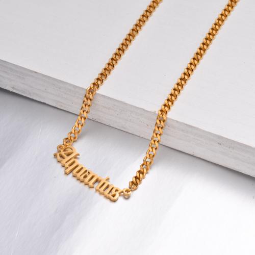 Collar Zodiaco Chapado En Oro De 18 Quilates Para Niña -SSNEG142-32511