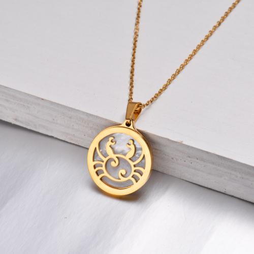 Collar Zodiaco Chapado En Oro De 18 Quilates Para Niña -SSNEG142-32520