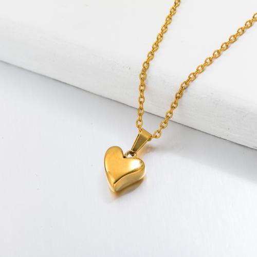Collier Pendentif Coeur Dainty Plaqué Or 18 Carats -SSNEG143-32675