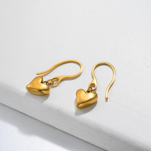 Pendientes Gota Corazón Bañados en Oro 18k -SSEGG143-32803