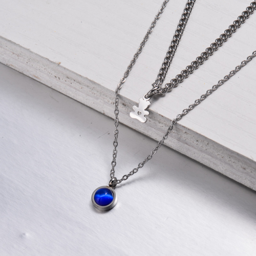 Stainless Steel Layered Necklace -SSNEG143-32894