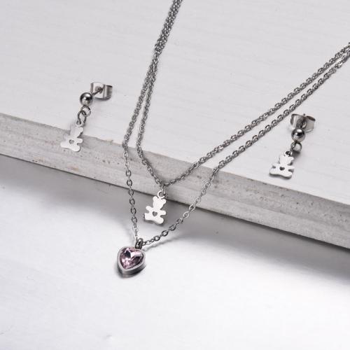 Conjuntos de Collares en Capas de Acero Inoxidable -SSCSG143-32874