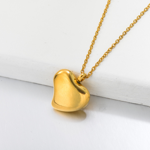 Collier Pendentif Coeur Dainty Plaqué Or 18 Carats -SSNEG143-32678