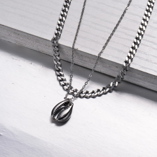 Collier de couche de style plage marine en acier inoxydable -SSNEG143-33005