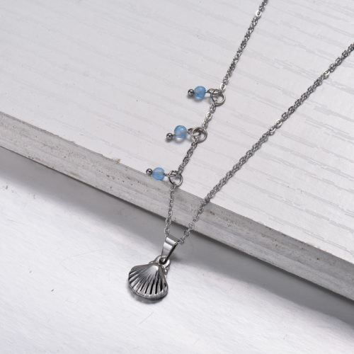 Collier pendentif style plage marine en acier inoxydable -SSNEG143-33022