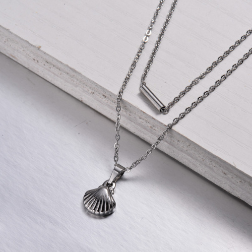 Stainless Steel Layered Necklace -SSNEG143-32885