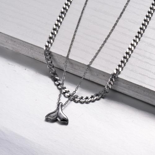 Collier de couche de style plage marine en acier inoxydable -SSNEG143-33010