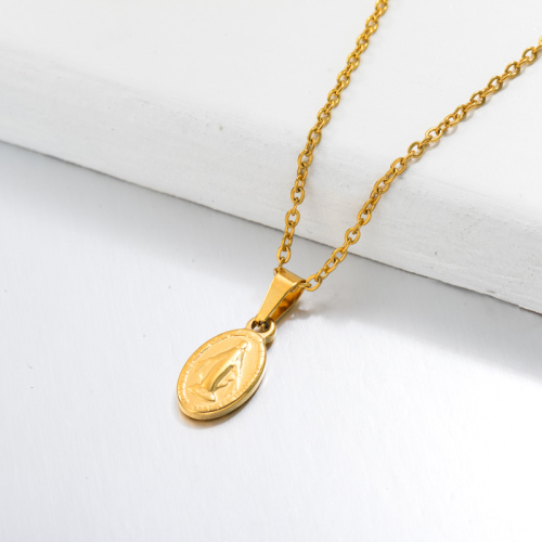 Collar con Colgante Medalla San Benito Chapado en Oro 18k -SSNEG143-32669